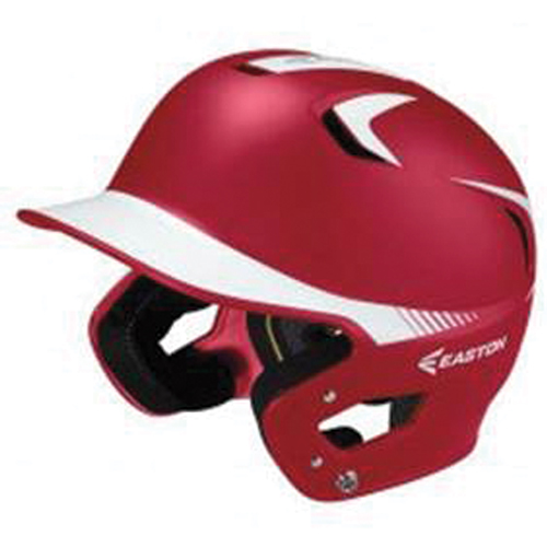 Senior Z5 Grip Two-Tone Batting Helmet, Red/White, swatch