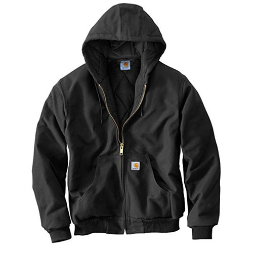 Men's Quilt Lined Active Jacket, Black, swatch