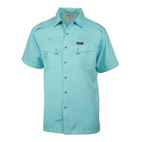 Men's Seacliff 2.0 Short Sleeve Fishing Shirt, Turquoise,Aqua, swatch