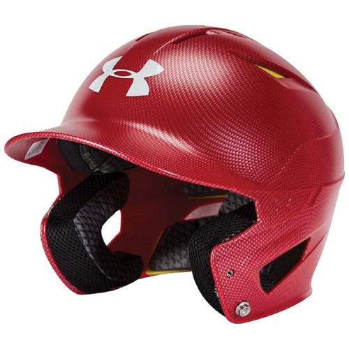 Classic Carbon Batting Helmet, Red, swatch
