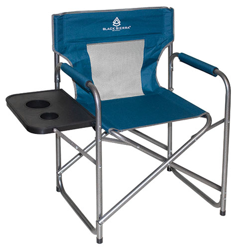 Mesh Director's Chair With Table, Blue, swatch