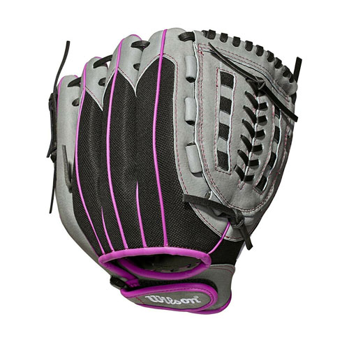 "Youth Fastpitch 11.5"" A440 Softball Glove, Black/Purple, swatch"