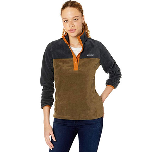 Women's Benton Spring 1/2 Snap Pullover, Dkgreen,Moss,Olive,Forest, swatch