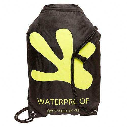 Waterproof Backpack, Black/Green, swatch
