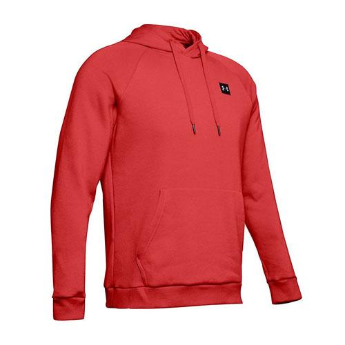 Men's Rival Fleece Hoodie, Red, swatch
