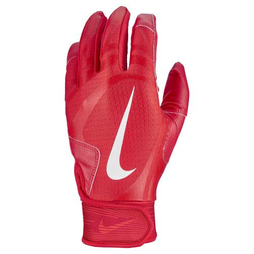 Men's Hurache Edge Batting Gloves, Red/Red, swatch