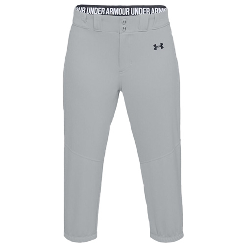 Women's Cropped Softball Pants, Gray, swatch