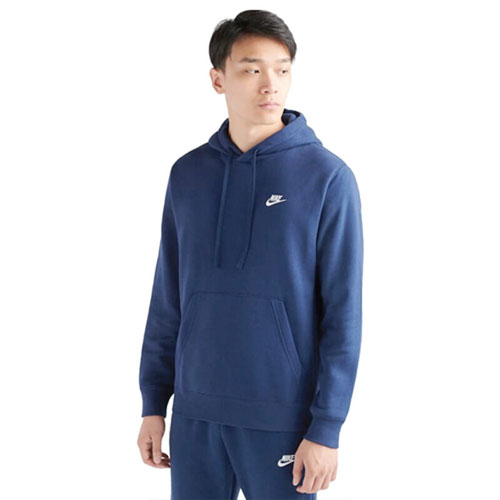Men's Sportswear Club Fleece Pullover Hoodie, Navy, large