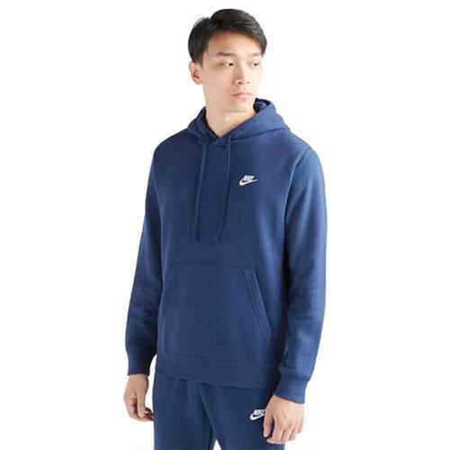 Men's Sportswear Club Fleece Pullover Hoodie, Navy, swatch