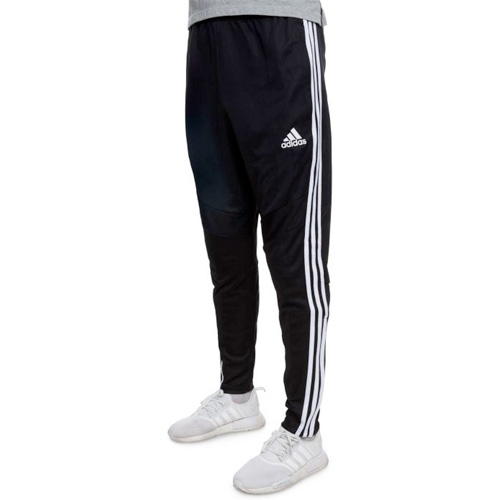 Men's Tiro Soccer Pants, Black/White, swatch