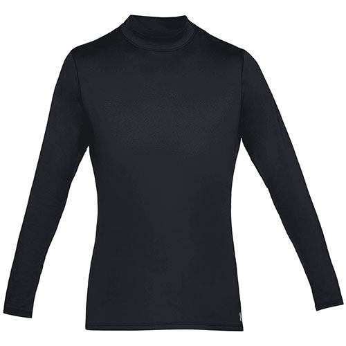 Men's Long Sleeve ColdGear Armour Mock Neck Shirt, Navy, swatch