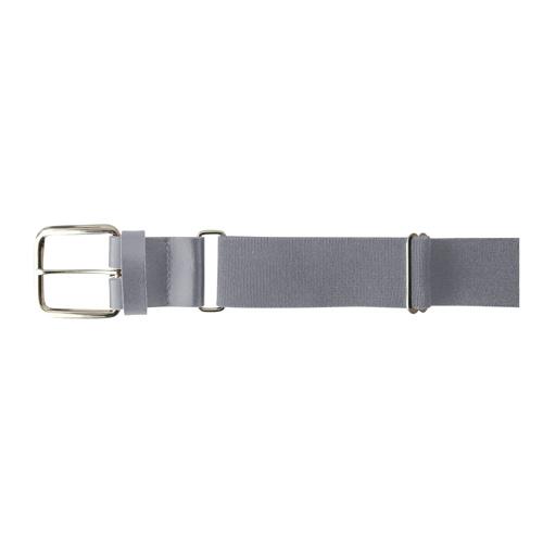 "1.5"" Leather Baseball Belt, Gray, swatch"