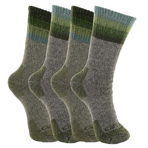 Women's Wool Blend Socks 4-Pack, Dkgreen,Moss,Olive,Forest, swatch