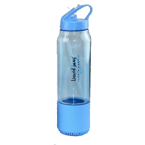Water Bottle + Bluetooth Speaker 3-IN-1 Liquid Jams, Blue, swatch
