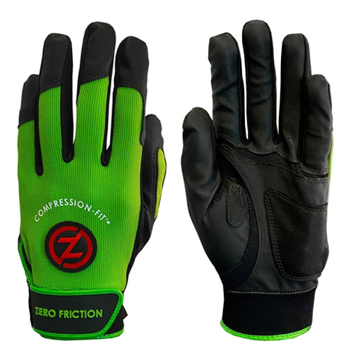 Men's Performance Batting Gloves, Lime, swatch