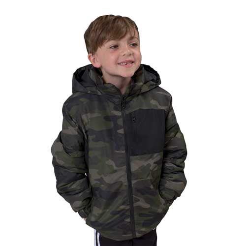 Boy's Youth Gravity Jacket, Camouflage, swatch