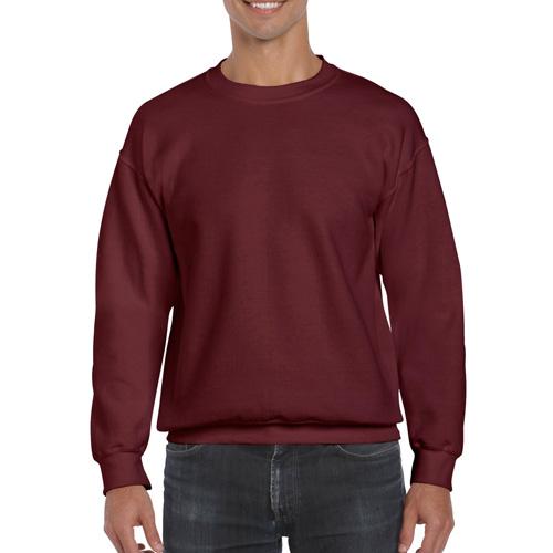 Men's Extended Size DryBlend Crewneck Sweatshirt, Maroon, swatch
