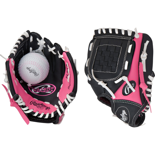 """9"""" Players Series Glove with Baseball, Pink, swatch"""