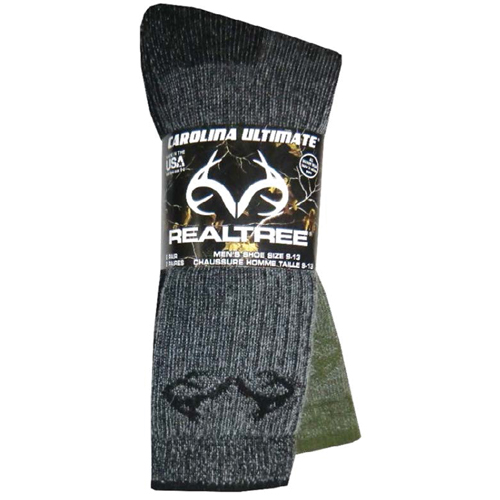 Men's Merino Wool Blend Boot Socks 2-Pairs, Green/Blk, swatch