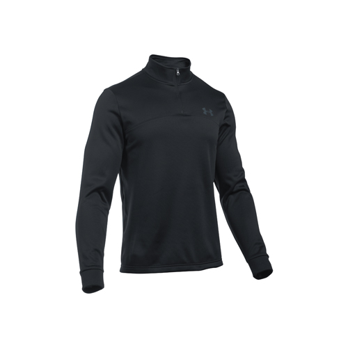 Men's Long Sleeve Armour Fleece Icon 1/4 Zip, Black, swatch