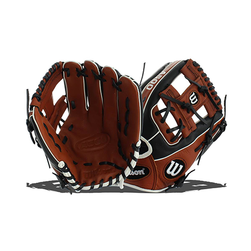 "Adult 11.5"" A500 Series Youth Glove, Brown, swatch"
