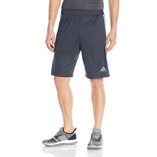 Mens Designed 2 Move 3-Stripes Shorts, Heather Gray, swatch