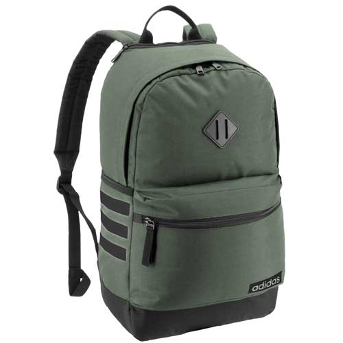 Classic 3 Stripe III Backpack, Dkgreen,Moss,Olive,Forest, swatch