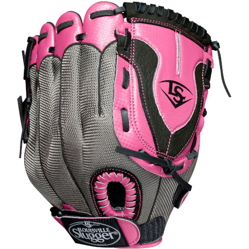 """Youth Fastpitch Diva 2 11.5"""" Glove, Gray/Pink, swatch"""