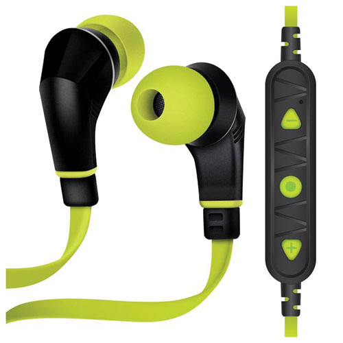 Nx80 Wireless Sports Earphones, Lime/Black, swatch