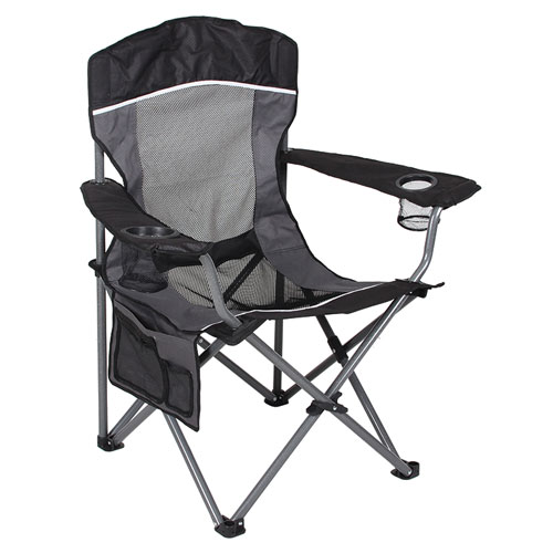 Mesh Big Boy Chair, Black/Gray, swatch