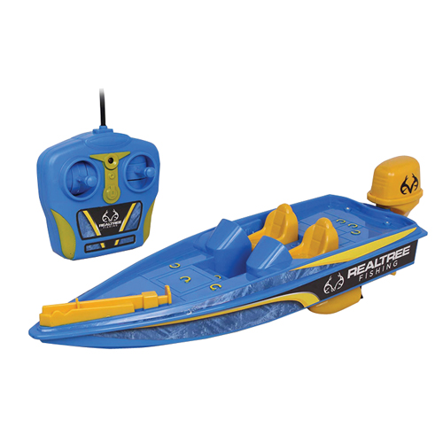 RC Bass Boat Realtree, Blue, swatch