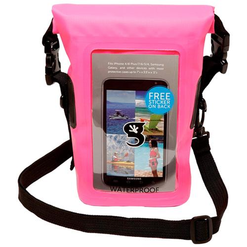 Waterproof Phone Tote, Pink, swatch