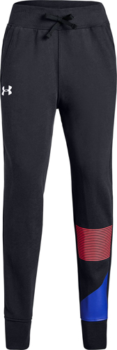 Big Girl's Rival Jogger Pant, Black, swatch