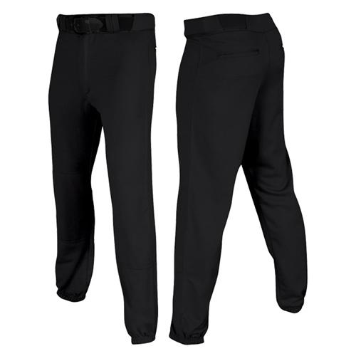 Men's Pro-Plus Closed Baseball Pants, Black, swatch