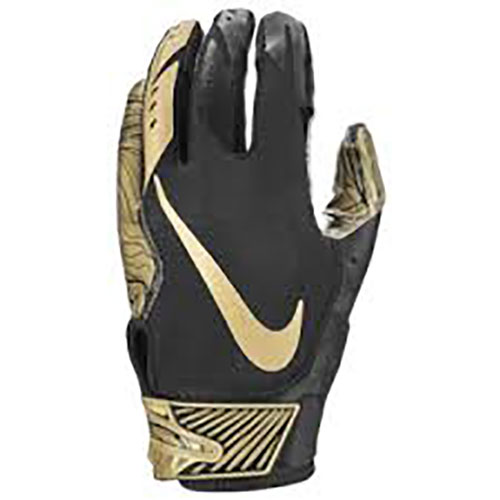 Men's Vapor Jet 5.0 Football Gloves, Black/Gold, swatch