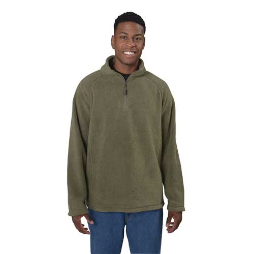 Men's Softy 1/4 Zip  Jacket, Dkgreen,Moss,Olive,Forest, swatch