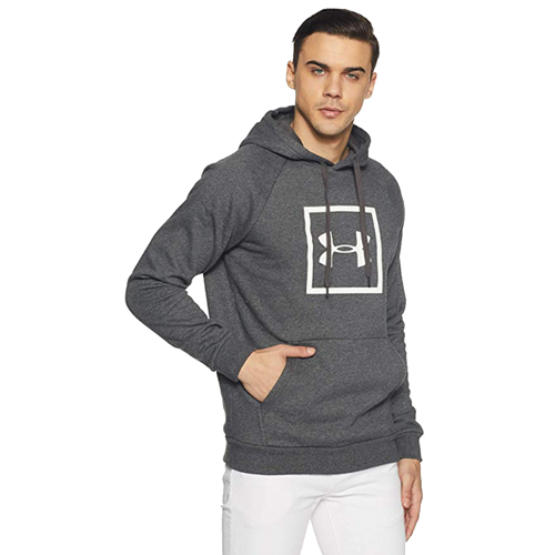 Men's Rival Fleece Logo Hoodie, Charcoal,Smoke,Steel, swatch
