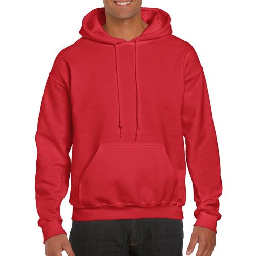 Men's Tall Long Sleeve Hoodie, Red, swatch