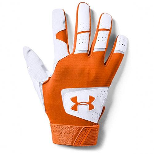 Adult Clean-Up Batting Gloves, Orange, swatch