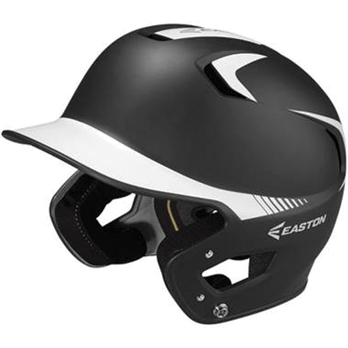 Senior Z5 Grip Two-Tone Batting Helmet, Black/White, swatch