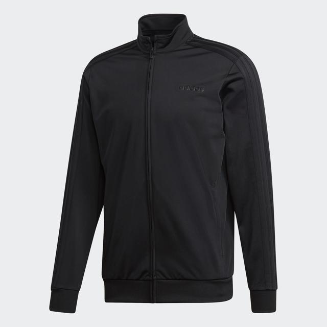 Men's Essential 3 Strip Tricot Jacket, Black, swatch
