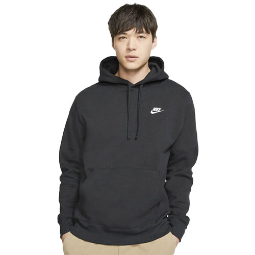 Men's Sportswear Club Fleece Pullover Hoodie, Black, swatch