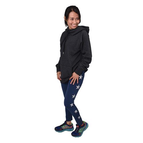 Women's Long Sleeve Fleece Lined Hoodie, Charcoal,Smoke,Steel, swatch