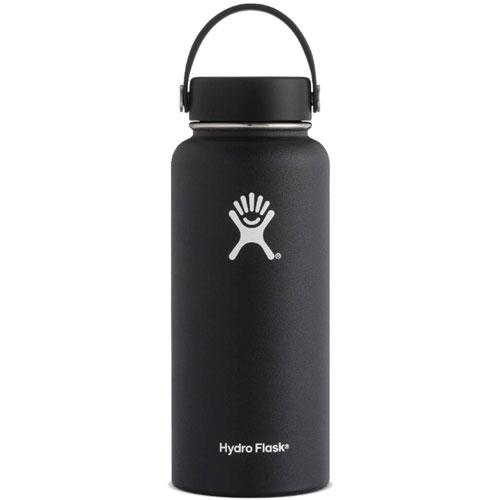 32 Oz Wide Mouth Water Bottle, Black, swatch