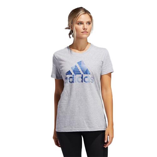 Women's Badge of Sport Tee, Heather Gray, swatch
