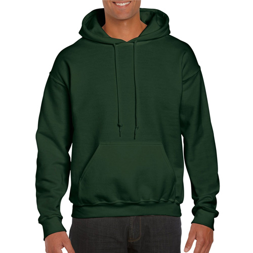 Men's Extdended Sizes Long Sleeve Hoodie, Dkgreen,Moss,Olive,Forest, swatch