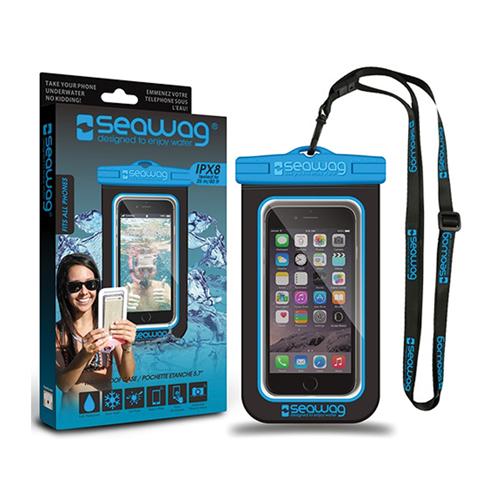 Waterproof Smartphone Case, Black/Blue, swatch