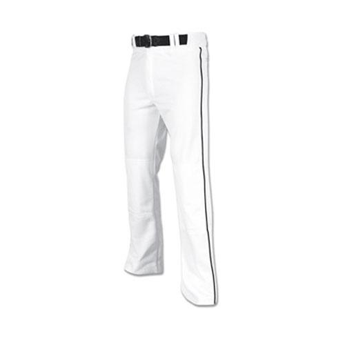 Men's Pro-Plus Open Bottom Baseball Pants, White/Black, swatch