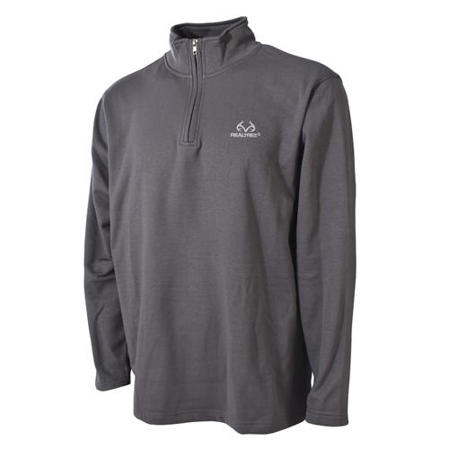 Men's 1/4 Zip Fleece Top, Gray, swatch