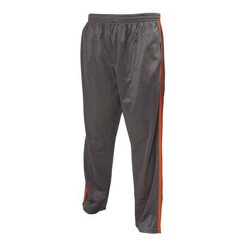 Men's Tricot Athletic Pant, Dk Gray/Orange, swatch